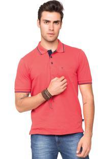 Camisa Polo Piquet Tony Menswear Com Bolso Modelagem Ampla Goiaba