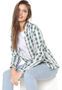 Camisa Hering Xadrez Vichy Verde/Off-White