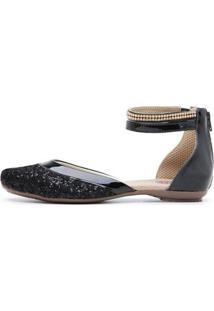 Sandalia Top Franca Shoes Feminina - Feminino-Preto