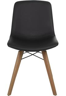 Cadeira Carla - Couro Preto