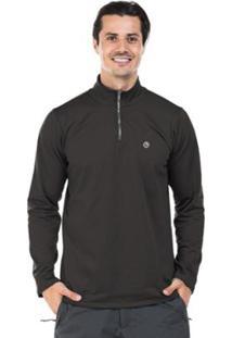 Camisa Térmica Para Frio Com Gola Alta Extreme Uv - Masculino-Chumbo