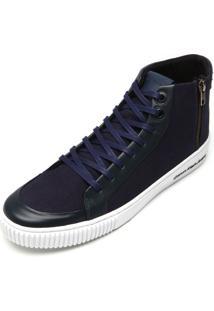 Tênis Couro Calvin Klein Jeans Cano Médio Azul