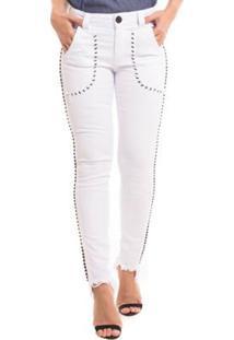 bbfbde523 ... Calça Jeans Denuncia New Skinny Feminina - Feminino-Branco