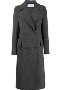 Harris Wharf London Trench Coat Com Abotoamento Duplo - Cinza