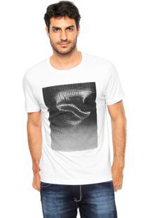 Camiseta Aramis Regular Fit Textura Branca