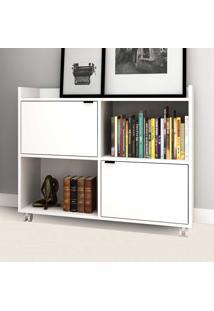 Estante Para Livros Be69 Branco - Brv Móveis