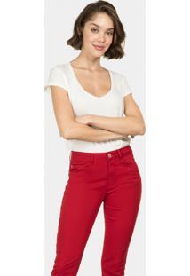 Calça Jeans Skinny Bali Duo Core Vermelho - Lez A Lez