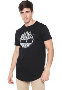 Camisa Timberland Reta Ss Reflective Vinho