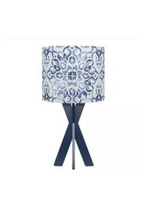 Abajur Carambola Azulejos Lisboa Azul