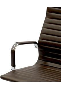 Cadeira Office Eames Presidente Com Rodízio E Sistema Relax Café