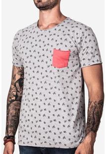 Camiseta Estampada Bolso Rosa 100886