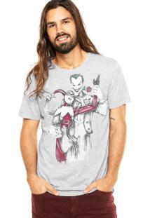 Camiseta Fashion Comics Coringa And Arlequina Cinza
