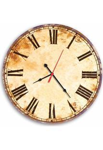Relógio De Parede Decorativo Vintage Números Romanos 35Cm Médio