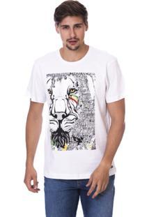 Camiseta Long Island Lion Masculina - Masculino-Branco