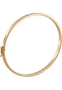 Pulseira De Ouro 18K Feminina Bracelete Algema 55Mm X 63Mm Fio 3Mm