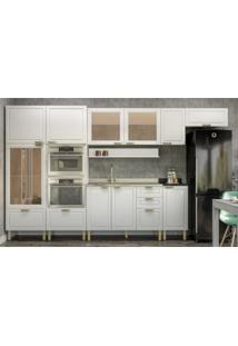 Cozinha Completa 9 Peã§As Americana Multimã³Veis 5653Mf Branco - Branco/Incolor - Dafiti