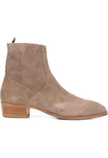 Represent Ankle Boot Com Toque Macio - Neutro