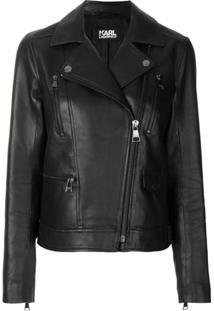 Karl Lagerfeld Jaqueta Biker 'Ikonik Odina' - Preto