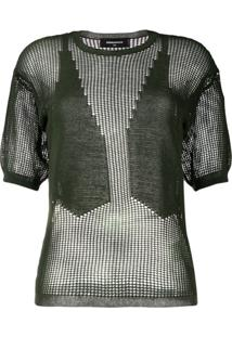 Dsquared2 Blusa De Tricô Com Mesh - Verde