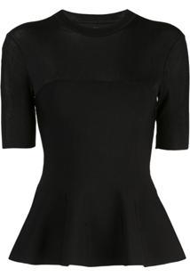 Proenza Schouler Blusa De Tricô Com Peplum - Preto