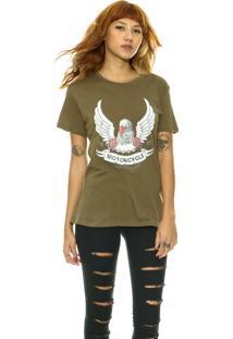99ee0d2206792 Camiseta Estampada Militar feminina