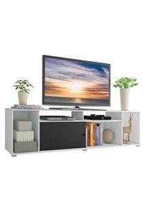Rack Para Tv Até 65 Polegadas Madesa Cancun Branco/Preto