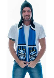 Cachecol Grêmio Dupla Face Capuz - Unissex