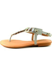 Sandália Infinity Shoes Rasteira Off White