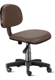 Cadeira Secretária Giratória Courvin Marrom Café
