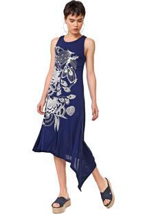 Vestido Desigual Midi Wakiut Azul