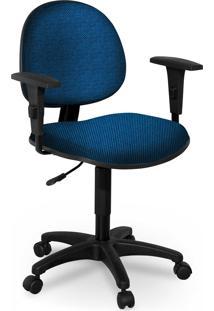 Cadeira Executiva Base Giratã³Ria C/ Bra㧠Azul - Azul - Dafiti