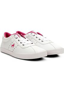 Tênis Polo Royal Com Strass Feminino - Feminino-Branco+Pink