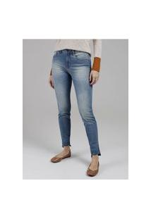 Calça Jeans Skinny Lunender Feminina Azul