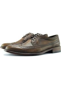 Sapato Brogue Monbran Dressy Confort Em Couro - Masculino