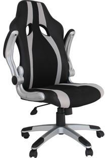 Cadeira Office Speed Preta E Prata Rivatti Móveis