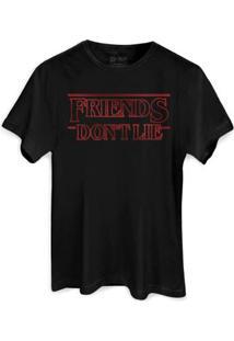 T-Shirt Bandup Friends Don'T Lie - Masculino-Preto