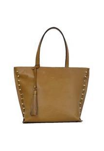Bolsa Feminina Tote Shopping Bag Classe Couro 2046-3 Marrom
