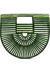 Cult Gaia Clutch Ark Mini - Verde