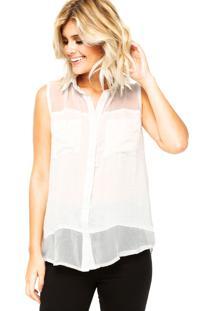 Camisa Holin Stone Recorte Branca