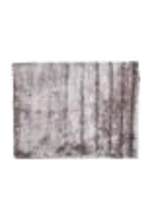 Tapete Shaggy Retangular Poliéster (200X250) Cinza