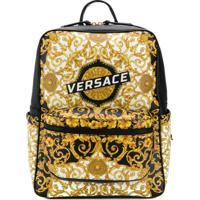 73a2b3ef62 Versace Mochila Com Estampa Barroca - Amarelo