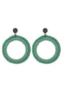 Brincos Bag Dreams Tricô Verde Mint