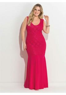 c242dc718 R$ 229,89. Zattini Vestido Plus Size Longo Renda Quintess ...