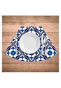Jogo Americano Para Mesa Redonda Wevans Tile Blue Kit Com 4 Pçs