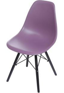 Cadeira Eames Polipropileno Roxa Base Escura - 53451 - Sun House