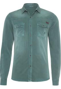 Camisa Masculina Cargo Color Duck - Verde