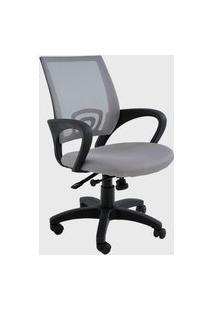 Cadeira Office Santiago Cinza Base Rodizio Rivatti