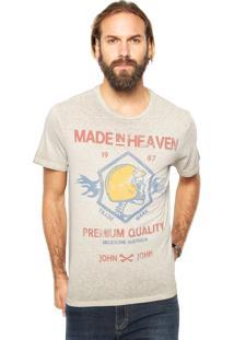 Camiseta John John Premium Bege