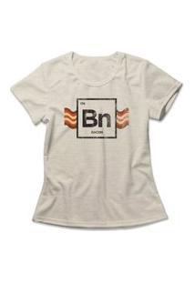 Camiseta Feminina Bacon Element Bege