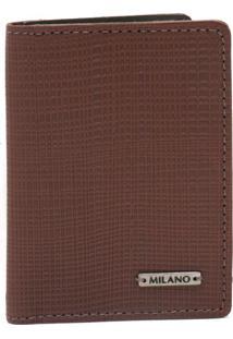 Carteiras Masculinas Milano Linho Café 9718 - Un